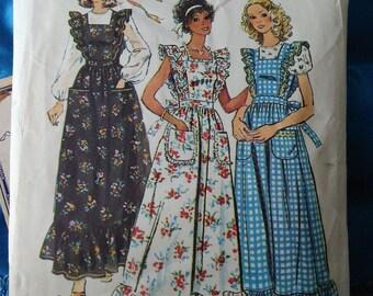 1970s Simplicity 6218 womens dress size 10 Prairie boho hippie