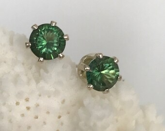 Emerald envy Mystic topaz stud earrings