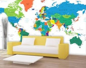 Dry Erase World Country Names Canvas