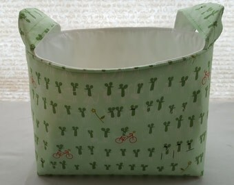Fabric Organizer Basket Container Storage Bins - Mouse Mice Riding Bicycle