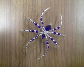 Royal Blue Glass Beaded Christmas Spider German Legend Of Tinsel Ornament