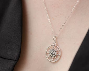 College Graduation Gift - Gold Compass Necklace - Journey Gift - Enjoy the Journey - Going Away Gift - Wanderlust Jewelry - Travel Jewelry