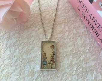 Alice in Wonderland Necklace Vintage Design