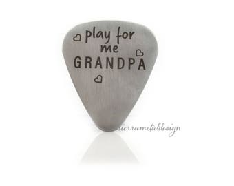 Play for Me Grandpa Guitar Pick Grandpa Gift Guitar Pick Engraved Guitar Pick Gift For Grandpa Day Christmas Birthday Valentines
