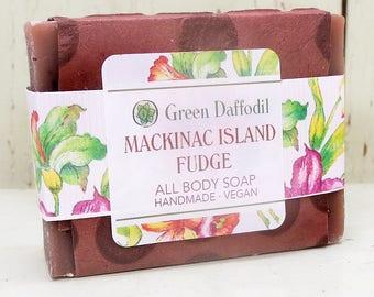 Mackinac Island Fudge Bar of Soap - Green Daffodil