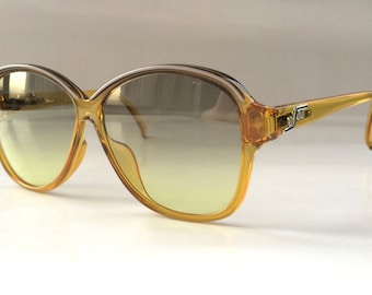 70s Vintage German Made Saphira 4074A Amber Yellow Sunglasses