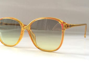 80s Vintage German Risal NOS Golden Honey Wayfarer Sunglasses