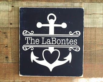 Nautical Sign,Beach Sign,Nautical Wedding Decor,Beach Wedding Decor,Anchor Home Decor,Nautical Home Decor,Newlywed Gifts,Summer Wedding