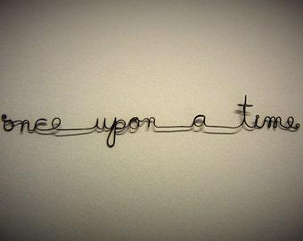 Wire metal words-phrases nursery wall decor