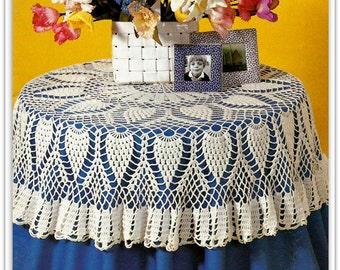 Crochet Pineapple Tablecloth Pattern - PDF 07041209