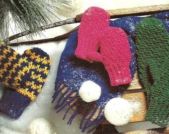 Crochet Mitten Pattern - Make In 3 Kids Sizes - PDF Pattern CR211252