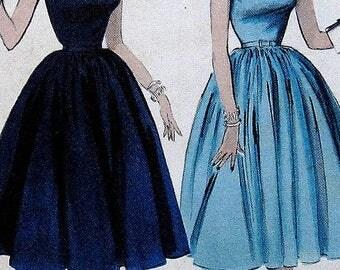 Vintage Dress Sewing Pattern Butterick 7021 Size 12