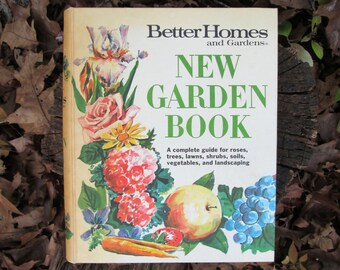 New Garden Book Better Homes and Gardens Vintage 1968 Binder Style