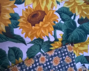Sunflowers VIP print by Joan Messmore for Cranston Print Works Co. Vintage fabric