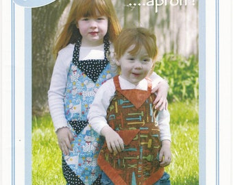 Kids Four Corners Apron, 1 Pattern, Vanilla House Designs, P137, Easy Sewing, Child's Apron, Playtime Apron, Kids version of best pattern