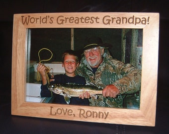 Engraved Grandfather Frame, Personalized Grandfather Frame, Personalized Grandpa Frame, Gift for Grandpas, Grandfather Gifts