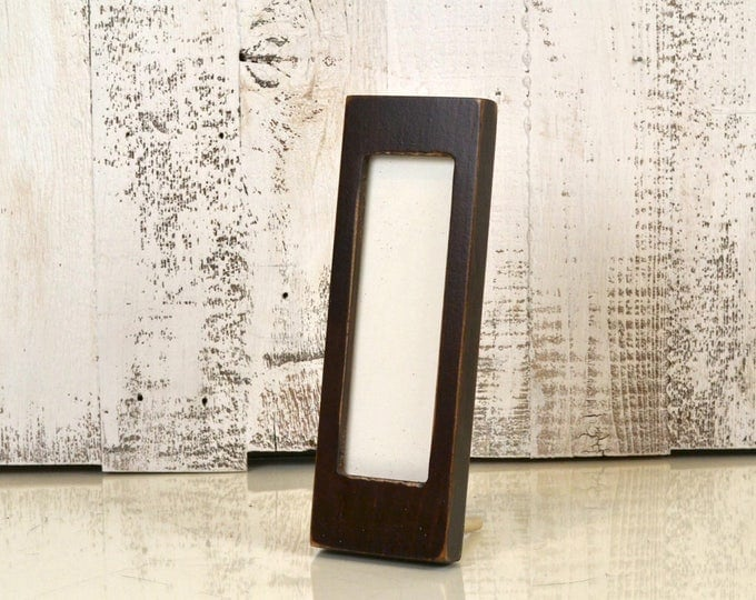 """Photo Booth Frame for 2 x 6 Picture Strip with Vintage Dark Wood Tone Finish - 2x6"""" Photo Booth Frame - IN STOCK - Same Day Shipping"""