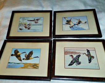 10 Inch Framed Matted Geese