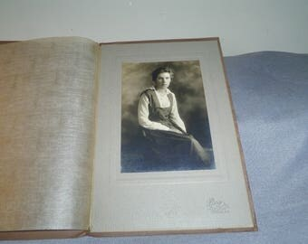 Antique Photo of Young Girl in Presentation Folder by Perry Studio, Bangor Maine