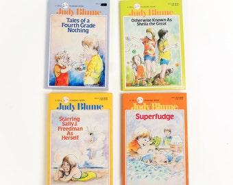 Vintage 1980s Childrens Chapter Book / 80s Judy Blume Paperback Set of 4 VGC / Preteen Angst, Social Misfit, Adolescence
