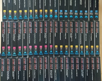 Huge Lot of 57 Star Trek Episodes from the 1980's in the original UNCUT version VHS Deluxe Edition Lot