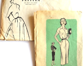 Anne Adams Wiggle Dress with Belt Vintage Sewing Pattern 4855 Mail Order Size 16 UNCUT