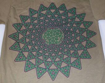 T-Shirt - Infinite Possibilities (Purple/Green on Tan)