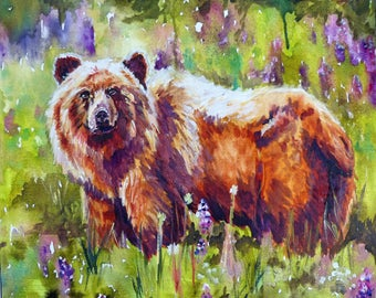 Alpine Bear Art Print by Maure Bausch