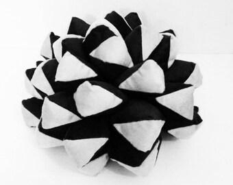 woodland nursery-black and white throw pillow-velvet pillow-home decor-pine cones-farmhouse decor-velvet pillow-decorative pillow-rose wood