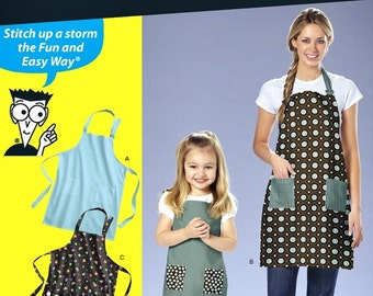 Mommy & Me Apron Pattern, Adult and Child Apron Pattern, Easy Apron Pattern, Simplicity Sewing Pattern 2824