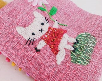 hand embroidered needlebook(reserved for Jas...(