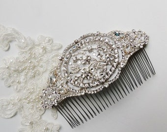 Nicole Vintage Inspired Wedding Bridal Crystal Rhinestone Beaded Hair Comb