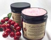 Frosted Cranberry Emulsifying Sugar Scrub, Whipped Sugar Scrub, Body Polish