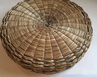 Vintage Native American Basket Penobscot Basket Sweet Grass Ash Split Basket