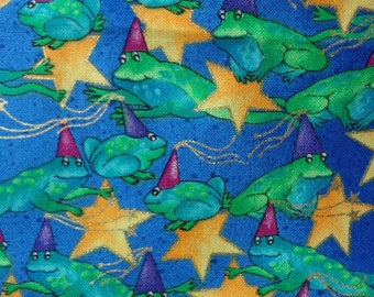 Frog Timeless Treasures Fabric, One Way Pattern, One Yard