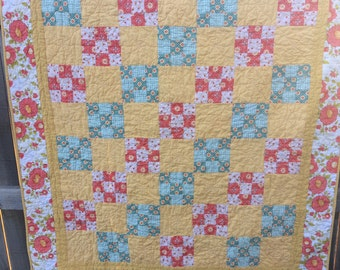 WEEKLY DEAL - Daydreamer Lap Quilt - Patchwork 9 Square; Baby; Girl