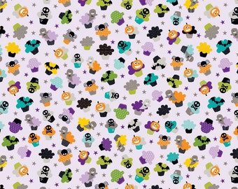 Halloween Cupcakes in Purple by Riley Blake Designs  - you choose the cut