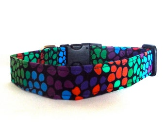 Collar for Your Pup in Colorful Circles