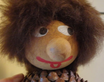 Swedish Folk Doll Figurine Pinecone Doll Where the Wild Things Are