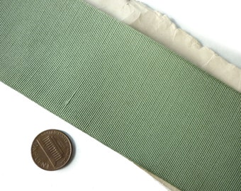 """Antique on Spool Mint Ribbed Grosgrain Ribbon 2 1/8"""" wide by the Yard"""