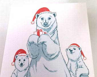 SALE - Polar Bear Christmas Holiday Boxed Set- Arctic Holiday - 50% off