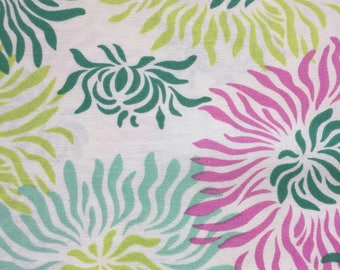Freshcut by Heather Bailey for Free Spirit ~ 100% Cotton BTY ~ Graphic Mums PWHB023 ~ TURQUOISE