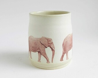 Elephant Tumbler - 12 oz, coffee, tea, water