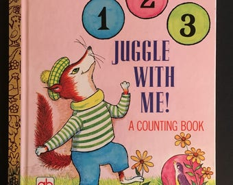 Vtg 1970 Childrens Book - 1 2 3 Juggle With Me - First Edition - A Little Golden Book
