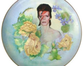 """HUGE David Bowie Portrait Plate 12.25"""""""