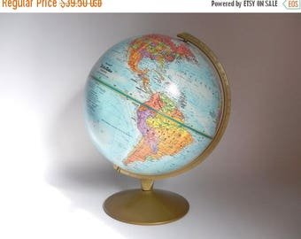 "Vintage Replogle 12"" World Relief Globe"