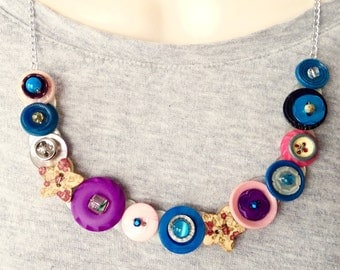 Mixing up the Game button necklace