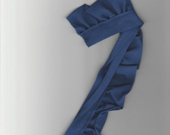 "2 yard of royal blue gathered trim 3/4"" wide cotton  supply"
