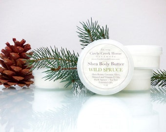 Wild Spruce Shea Body Butter - 2 ounce travel size