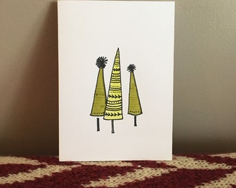 Three Little Trees Notecard